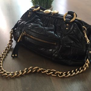 Marc Jacobs Quilted Black Leather Stam Handbag